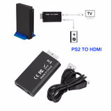HOT New Premium Version For PS2 To HDMI Video Converter Adapter Practical For PS2 Ypbpr USB/5V Input HDMI Audio Output Black
