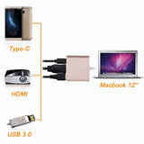 USB Type C to HDMI with Charging Adapter USB Type C to HDMI HUB & USB & Type C