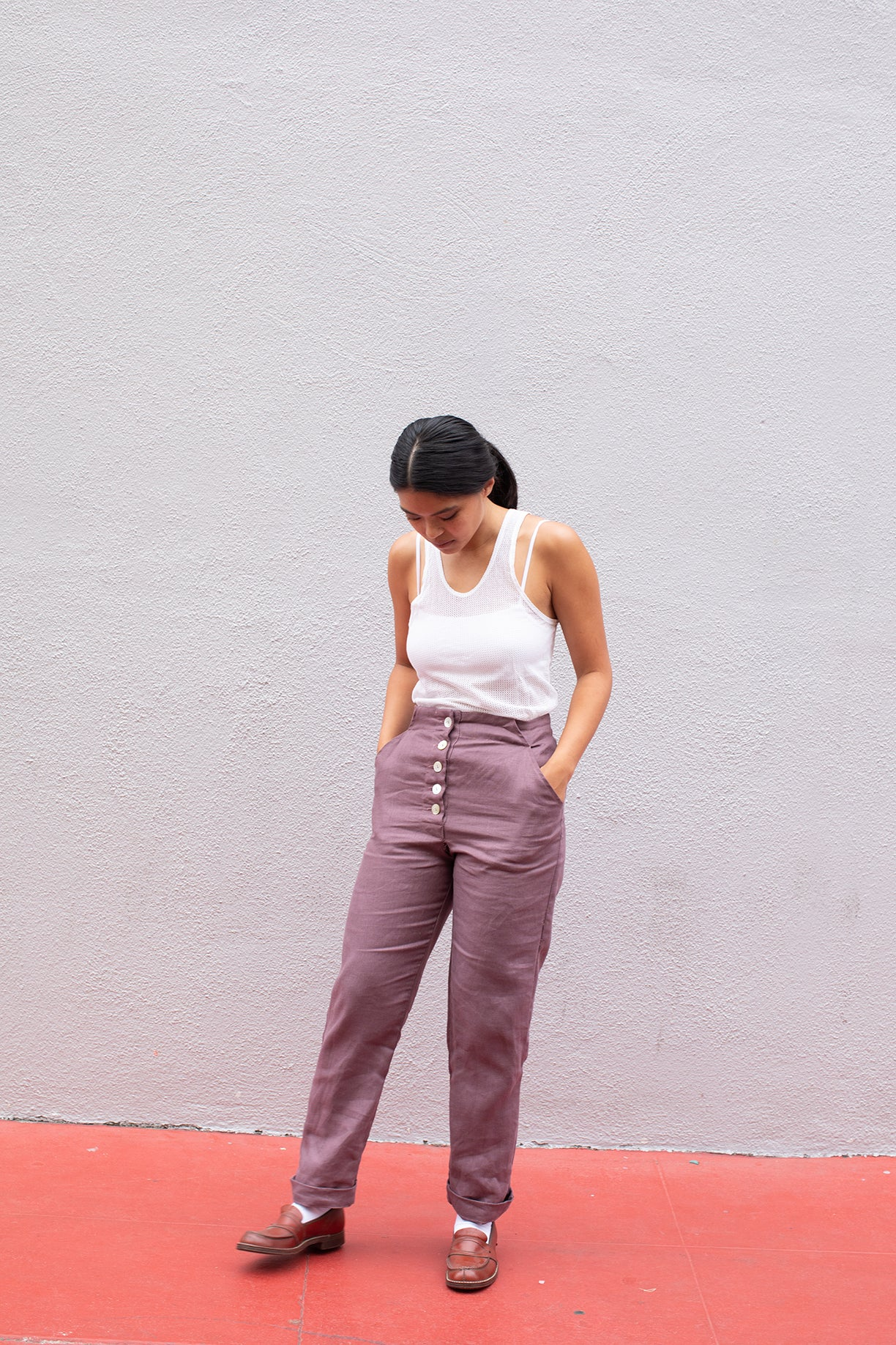 Birthday Pants / Mauve Plum