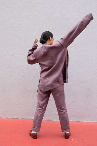 Sifu Work Coat / Mauve Plum