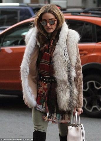 With Rabbit Fur Vest