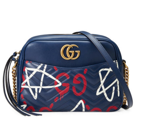 Gucci ghost marmont shoulder bag