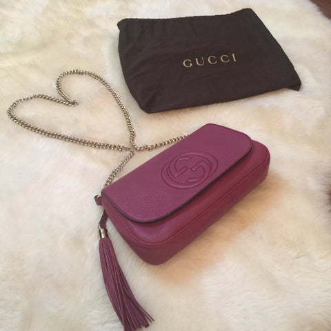 Gucci Magenta Shoulder Bag