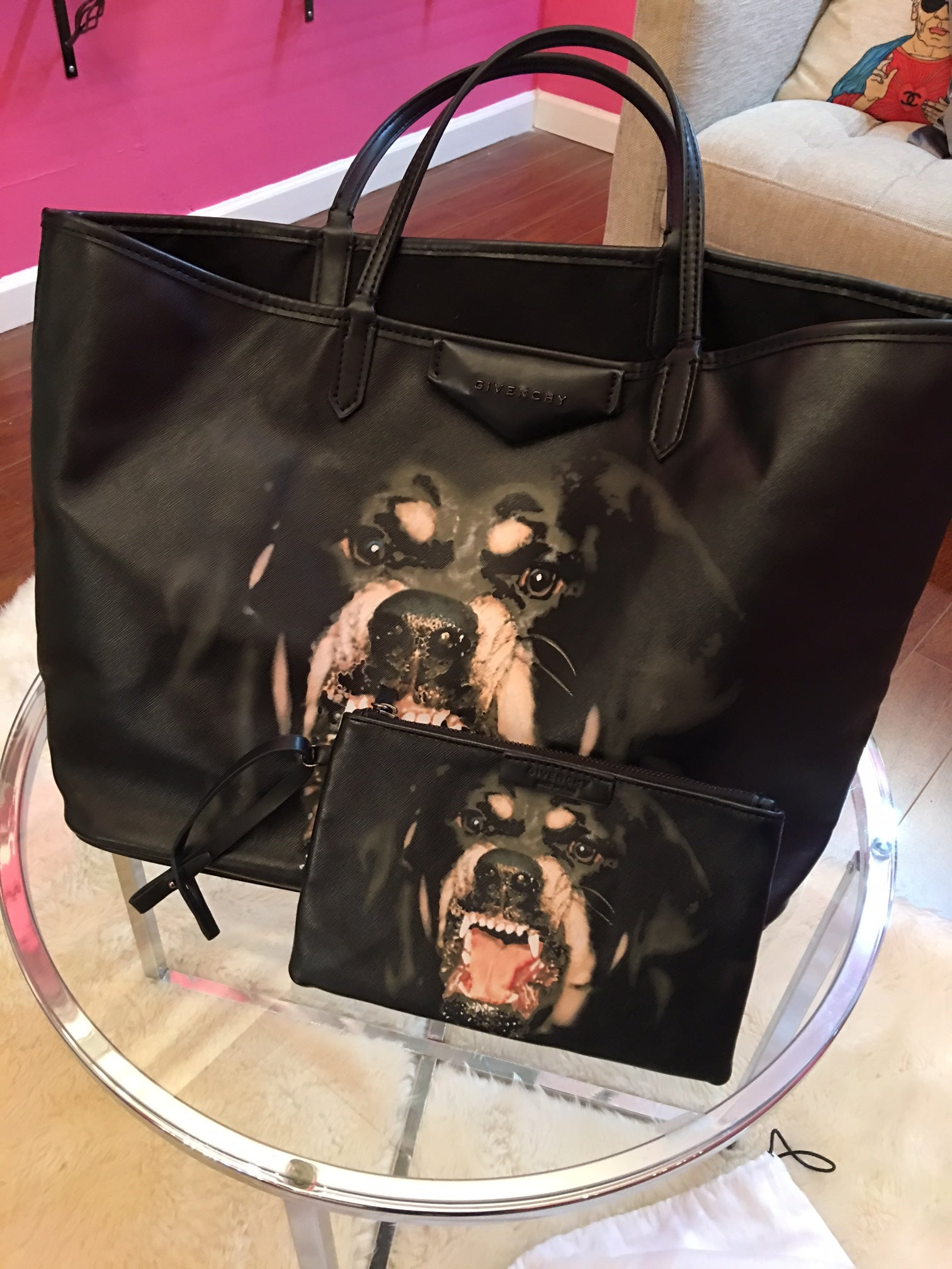 d08a3ca2ed Givenchy large Rottweiler tote with pouch – Beccas Bags Boutique