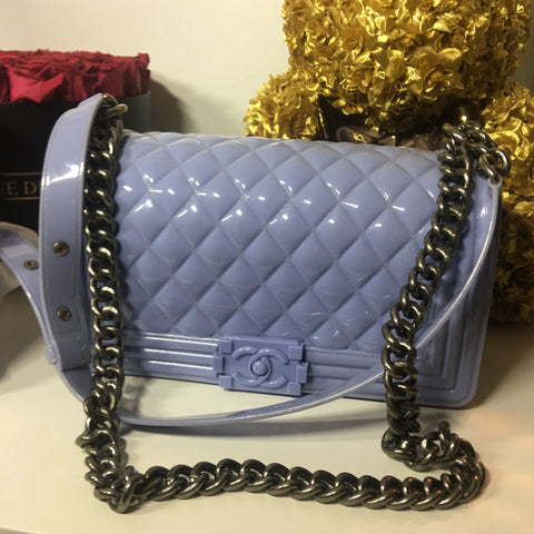 "Chanel faux ""toy"" boy jelly bag"