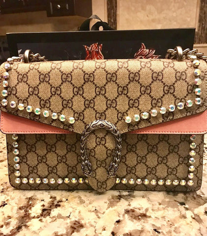 Gucci Dionysus GG crystal shoulder bag