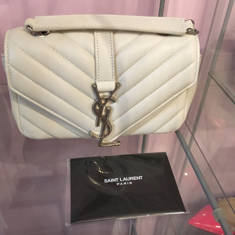YSL Cross Body bag in White