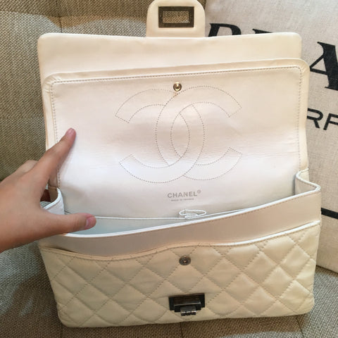 Chanel Reissue 2.26 in Patent White.