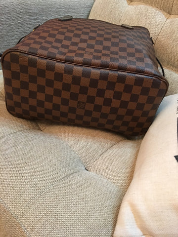Damier ebene leather