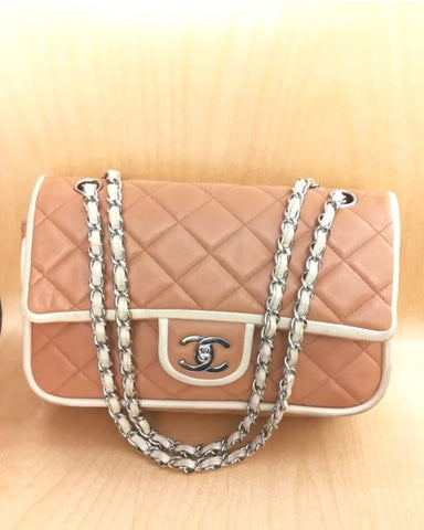 Chanel medium flap bag.