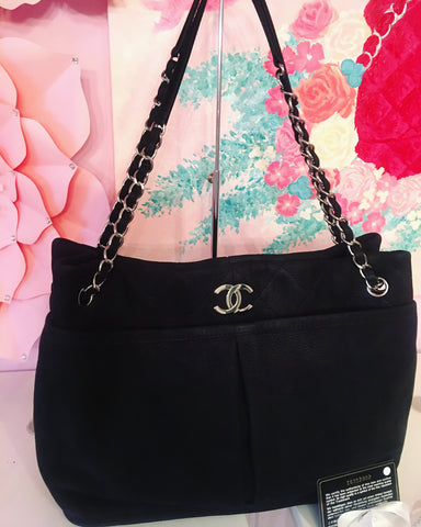 Chanel caviar quilted bowler bag