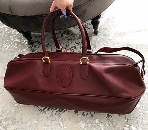 Cartier Boston Leather Travel bag