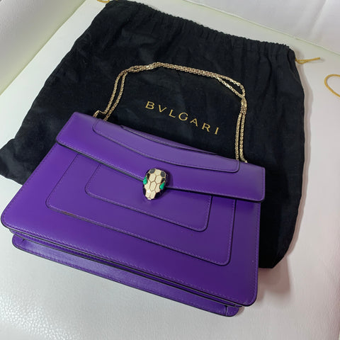 Bvlgari serpenti forever flap cover bag.