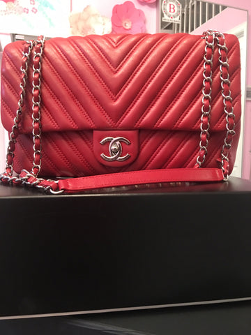 Chanel chevron flap bag