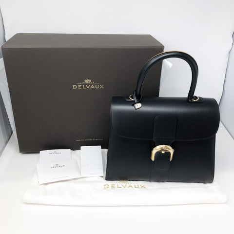 Delvaux Brillant MM Noir-Antique Gold