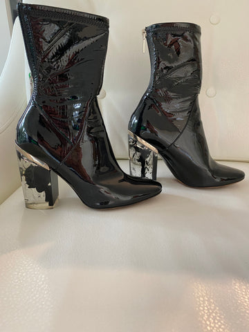 Christian Dior lucite boot heels