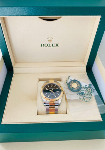 Rolex Datejust Two Tone Fluted Bezel  41mm 126333