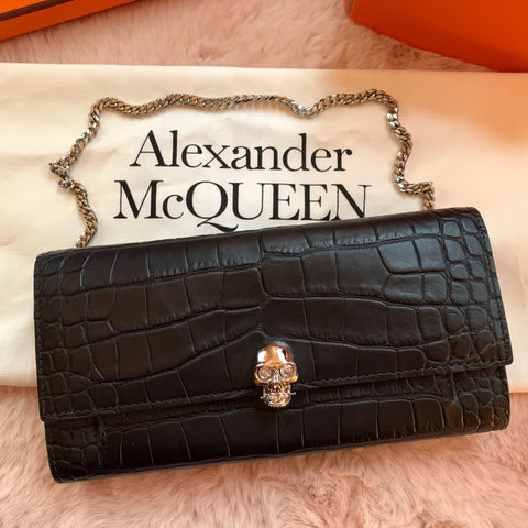 Alexander McQueen wallet on chain