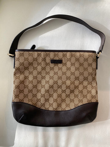 Gucci monogram canvas bag