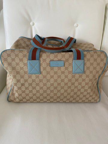 Gucci canvas carryall