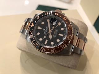 Rolex Gmt master ll Rootbeer  Rose gold and stell full set