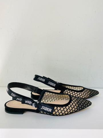 Christian Dior dior and moi slingback ballet flats