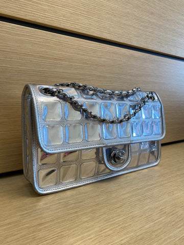 Chanel metallic ice cube flap bag