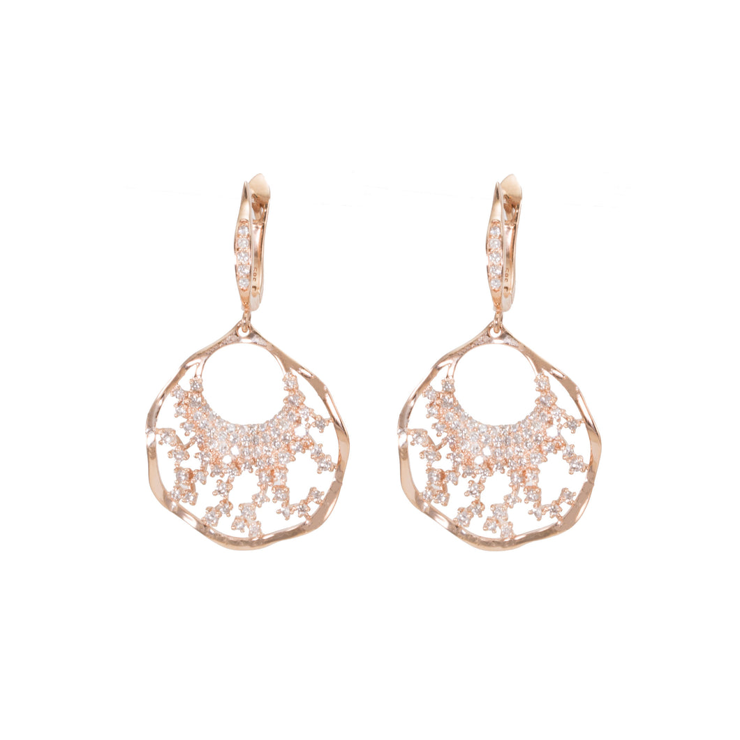 Fan Drop Diamond Earrings