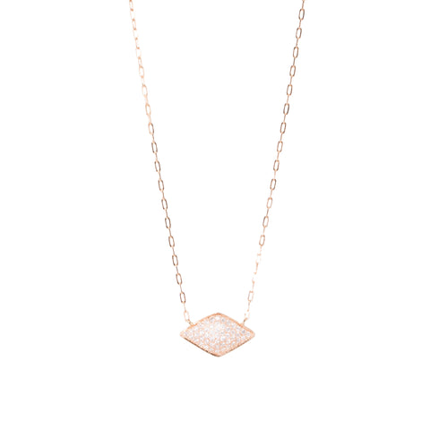 Diamond Shape Pave Necklace