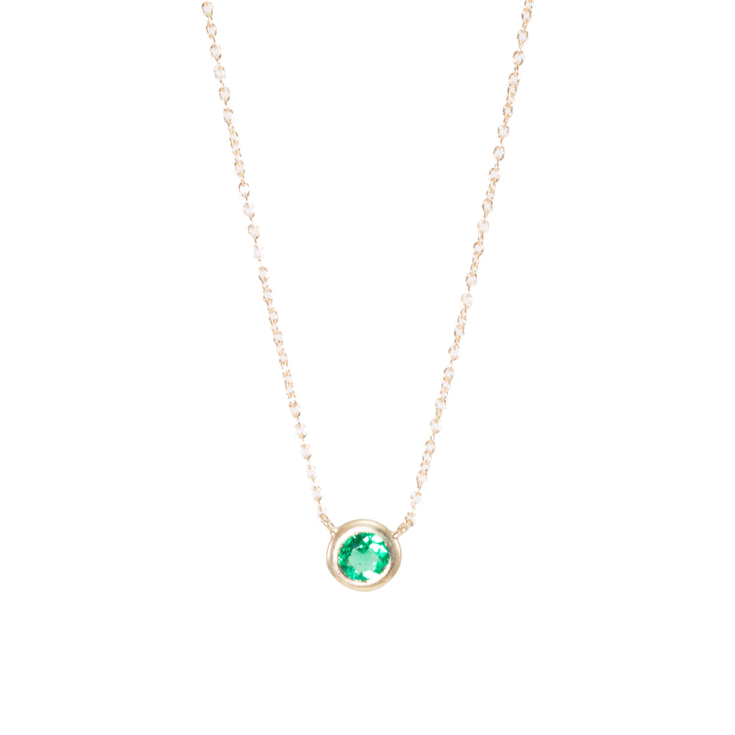 Emerald Bezel Necklace