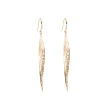 Load image into Gallery viewer, Diamond Leaf Earrings