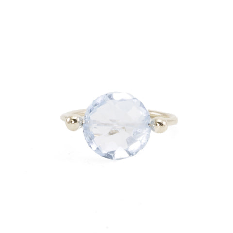 Blue Topaz Pinned Ring