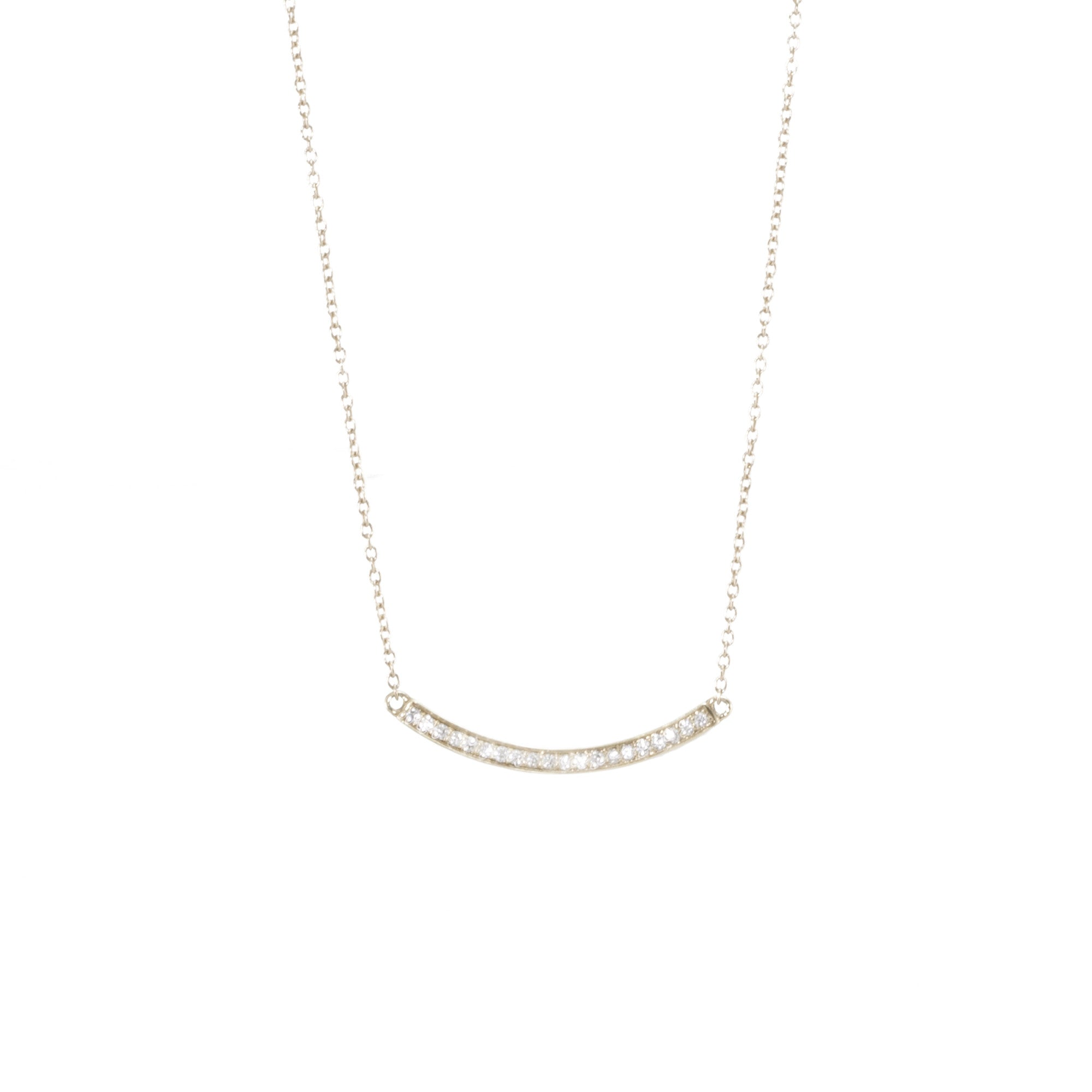 Curved Bar Diamond Necklace
