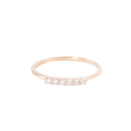 Curve Diamond Bar Ring