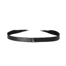 Load image into Gallery viewer, Initial Diamond Leather Choker