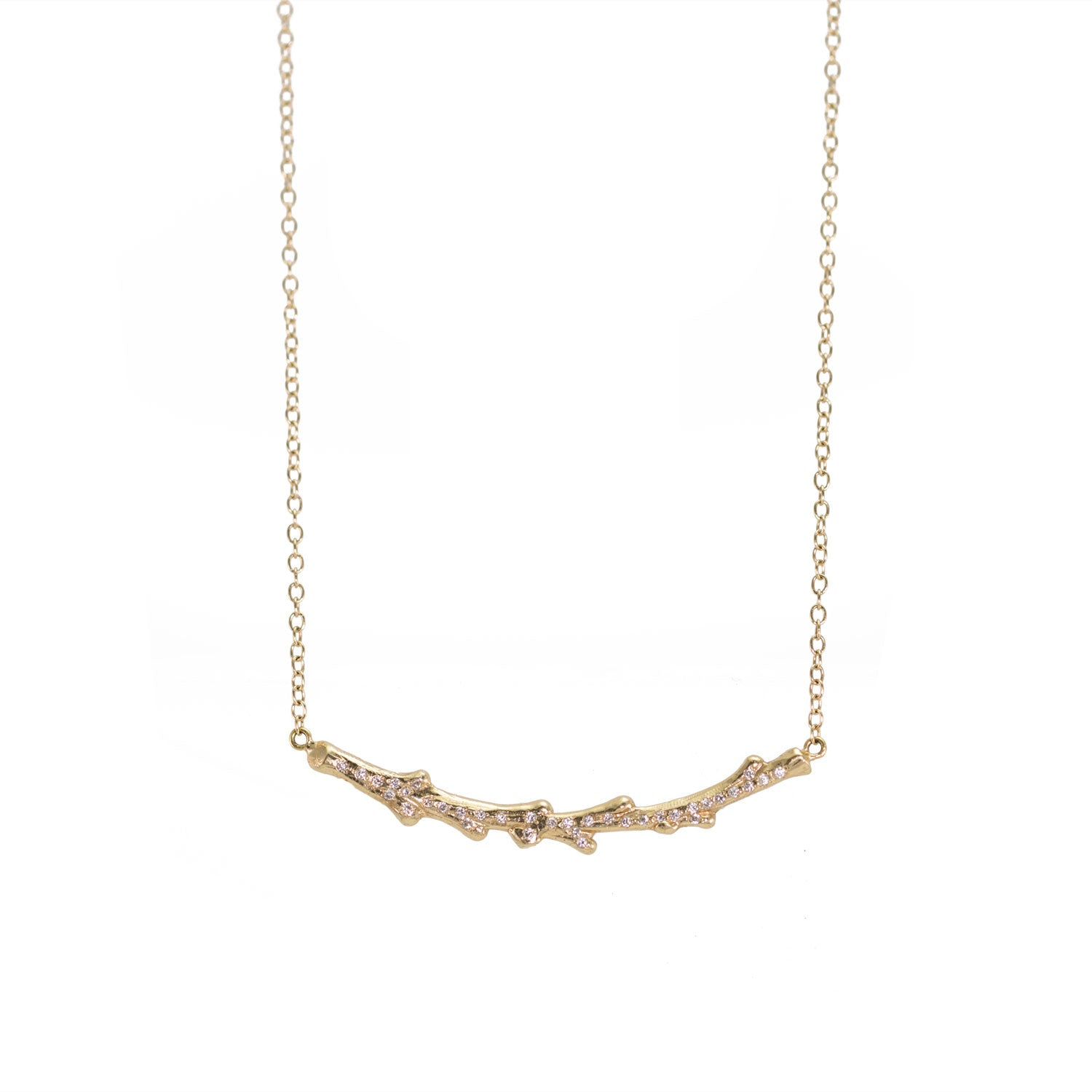 Tree Branch Diamond Necklace