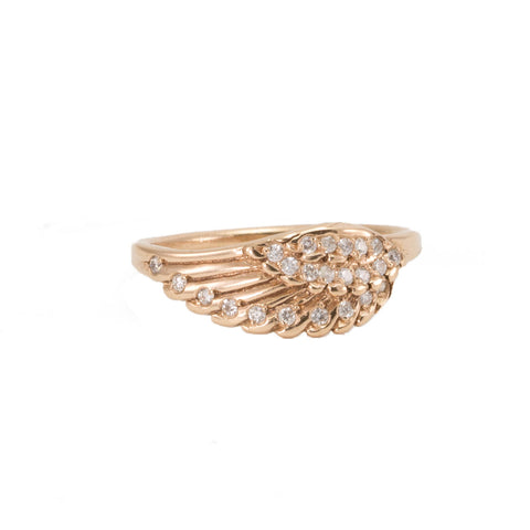 Wing with Diamonds Ring