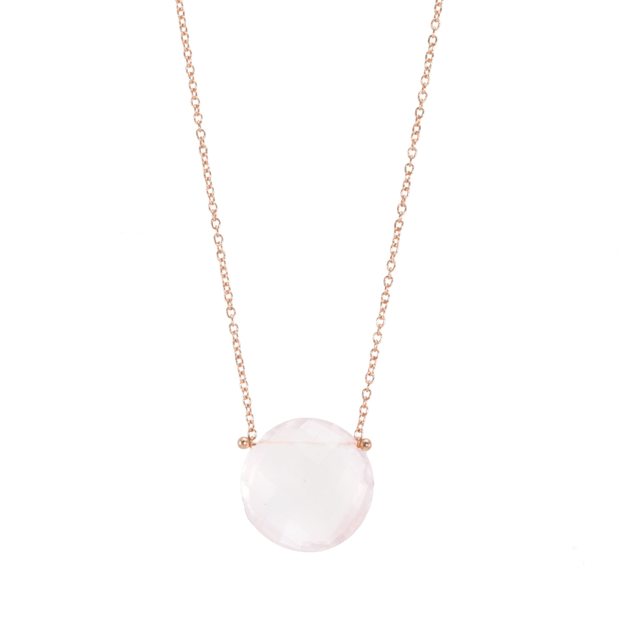 Rose Quartz Drop Pinned Necklace