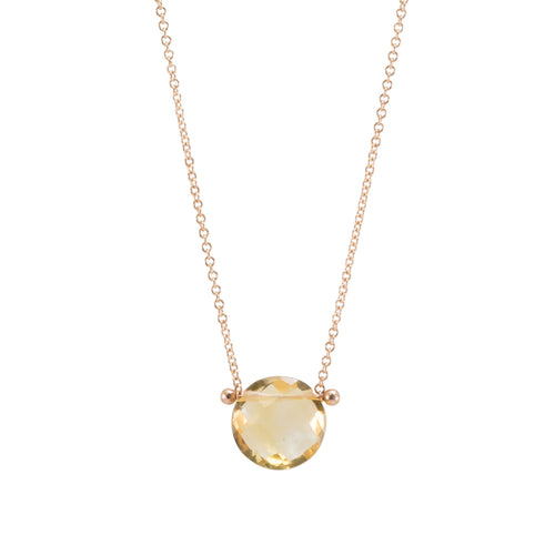 Citrine Drop Pinned Necklace