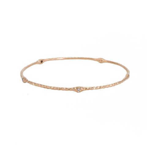 Hammered Diamond Bangle Braceet