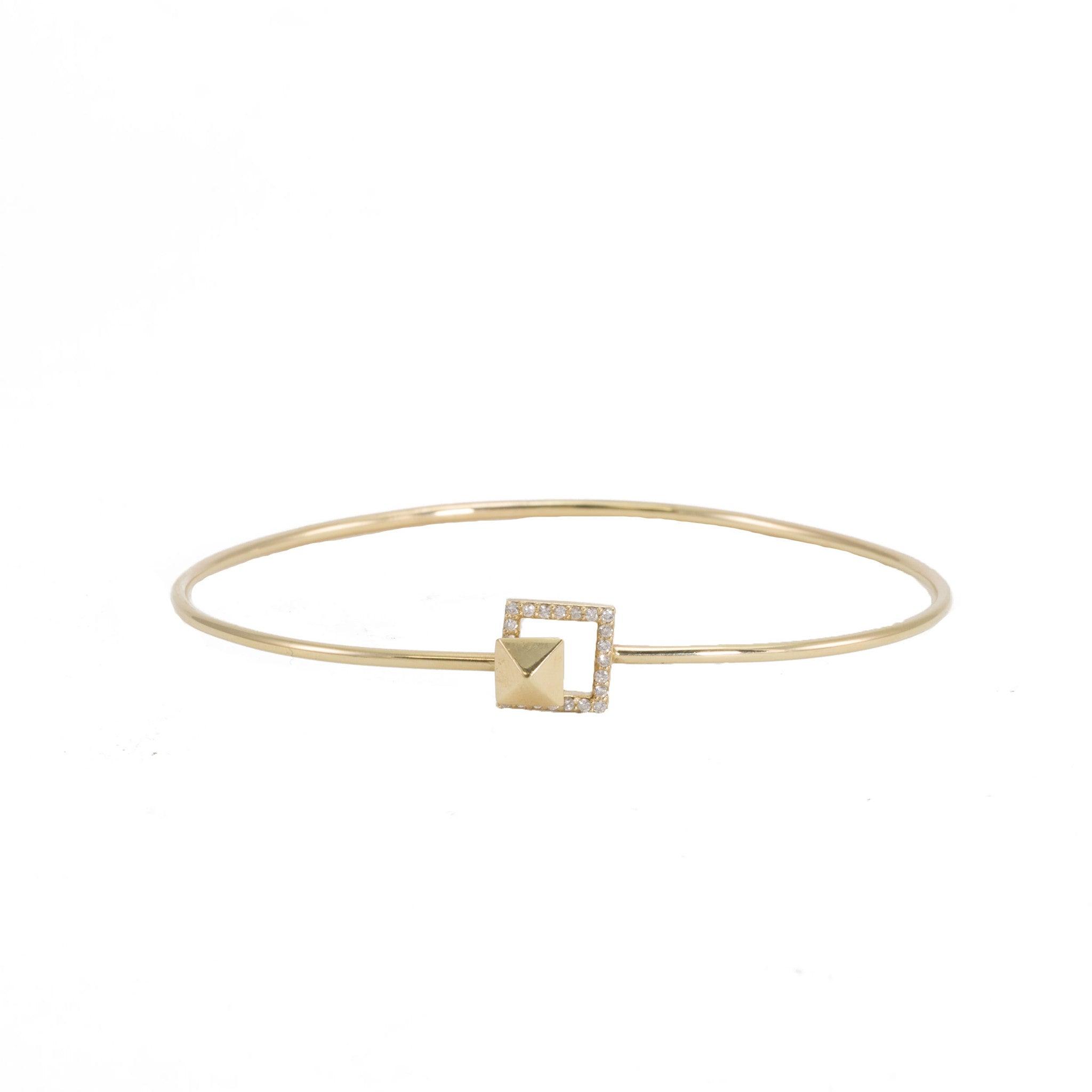 baguette bangle tone bangles gold cuff crystal cut bracelet hinged in bold pin inch fashion rose