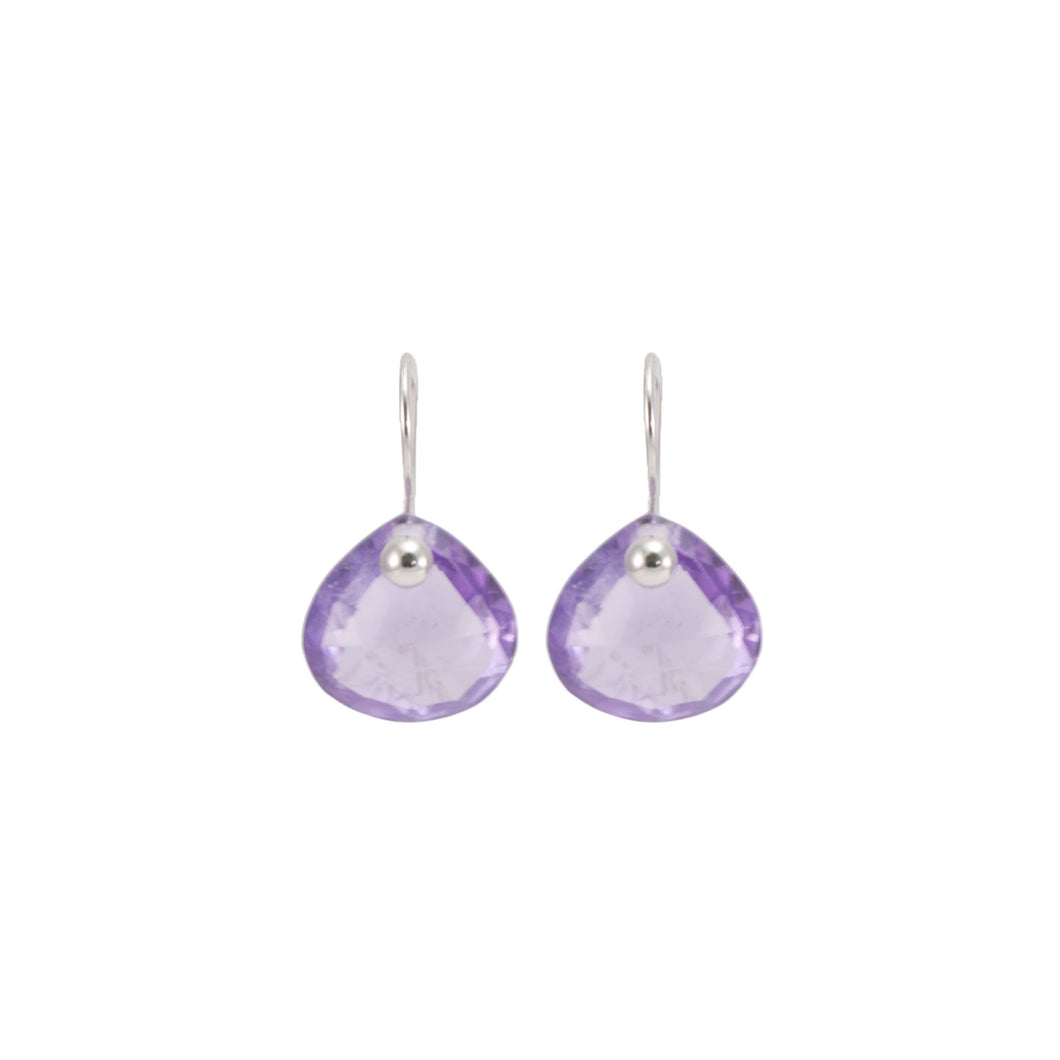 Lavender Amethyst Pinned Drop Earrings