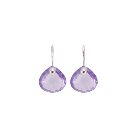 Lavender Amethyst Pinned Earrings