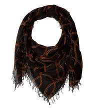 Load image into Gallery viewer, Chains Black Cashmere and Silk Scarf