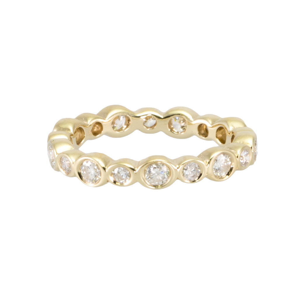 Diamond Eternity Band with Alternating Bezels