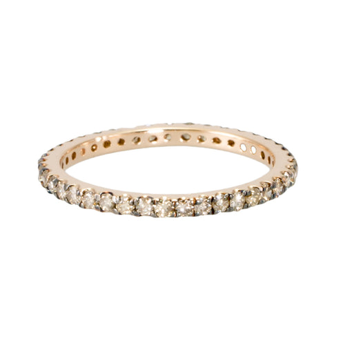 Champagne Diamond Eternity Band