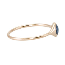 Load image into Gallery viewer, Rose Cut Blue Sapphire Ring