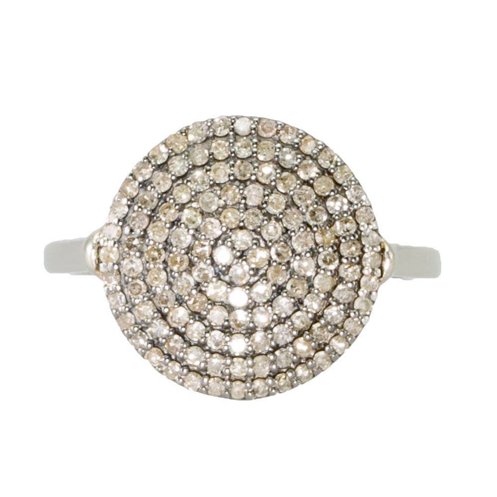 Champagne Diamond Disc Ring