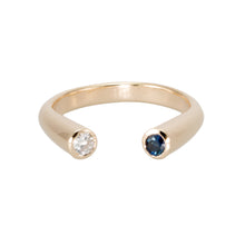 Load image into Gallery viewer, Horseshoe Sapphire and Diamond Ring