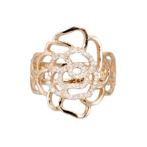 Cut Out Rose Diamond Ring